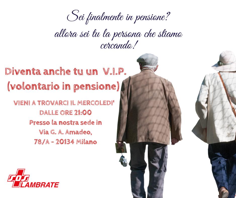 volontario in pensione